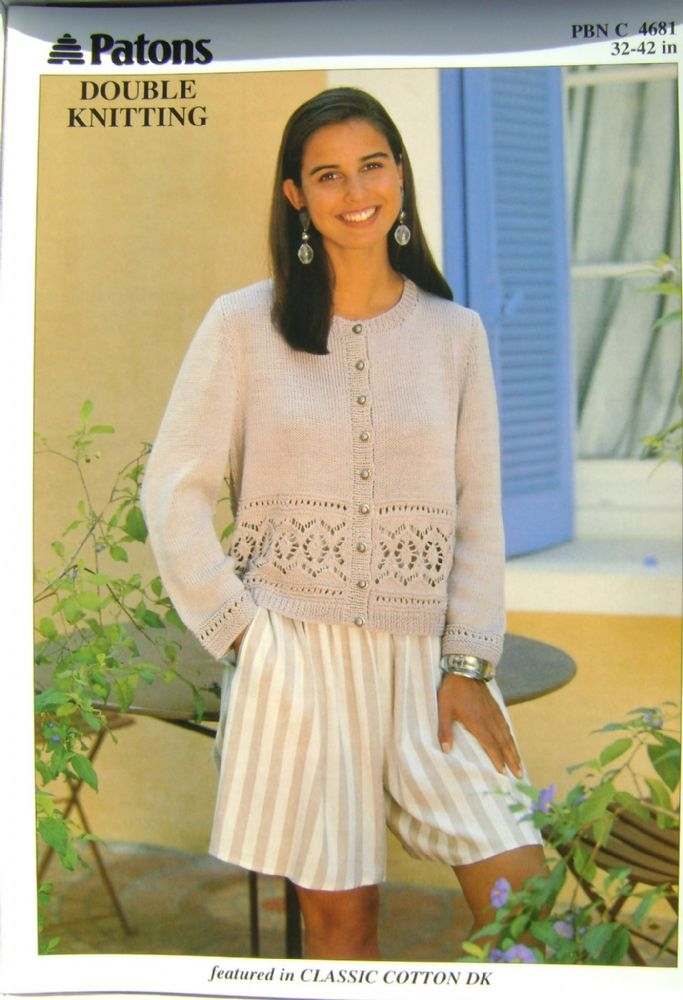 Patons Knitting Pattern 4681